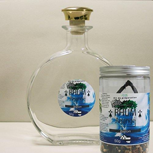 Floralpina karaf leeg 750 ml + Rum gearrangeerd Breton