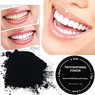 Creazy Teeth Whitening Powder Natural Organic Activated Charcoal Bamboo Toothpaste (C)