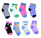 Isakaa Fleece Cotton Fairy Socks for Baby girls and Boys Pack of 8
