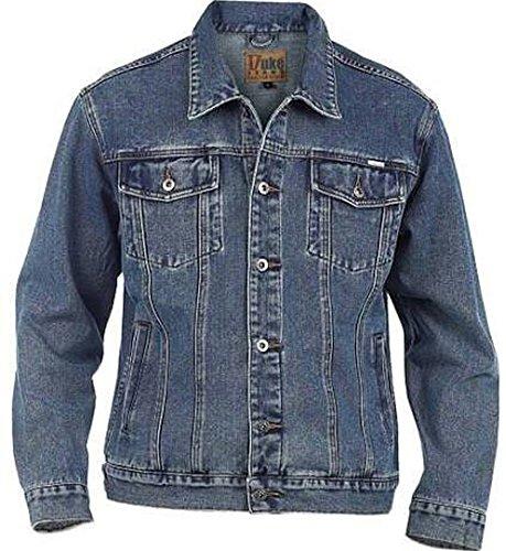 Duke London Veste en jean pour homme grande taille King size - Bleu - XXXX-Large