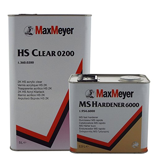 Max Meyer 0200 2K Clear Coat Car Lacquer 7.5ltr Standard Kit Includes...
