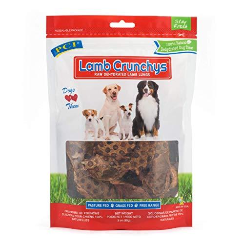 Pet Center, Inc. PCI Lamb Crunchys Raw Dehydrated Lamb Lungs Dog Treats, 3 Ounce Pack