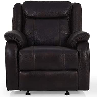 CasaStyle Danobe Leatherette 1 Seater Recliner (Brown) Best for Relaxing