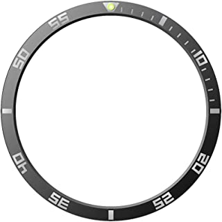 Wohome For Samsung Galaxy Watch 46MM Bezel Ring Adhesive Cover Anti Scratch Luminous (Black)
