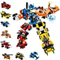 Holiky Toys for 5-12 Year Old Boys Girls, STEM Building Robot Toys for Kids 25-in-1 Engineering Building Blocks Construction Vehicles Kit Boys Gifts for Aged 6-10 Year Old
