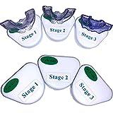 Zyh-sldj Férula Dental Placa Ortodoncia Aparato, Entrenador de Dientes Aparatos bucales Aparato Dental Boquillas Blanqueamiento para Adolescentes/Adultos Reutilizable(3 Piezas/Juego)