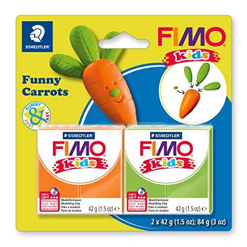 STAEDTLER FIMO kids superweiche, ofenhärtende Knete, Modellierspaß speziell für Kinder, witzige Figuren,
