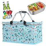 Borsa termica da picnic, borsa termica per la spesa, cestino per la spesa, cestino da picnic, cestino per la spesa, borsa termica pieghevole, borsa per picnic, borsa per la spesa