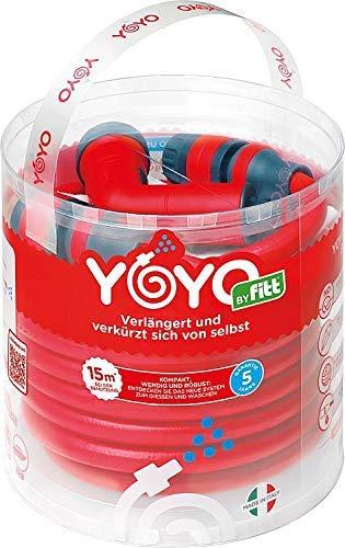 FITT YOYO 15mt (v. 2017) Il Tubo Estensibile, Leggero e Resistente. Completo di Pistola e connettori con Attacco rapido e aquastop.