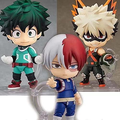 3 Unids / Set My Hero Academia Nendoroid Cambio De Cara Figuras De Acción De Juguete Boku No Hero Academia Anime Modelo Juguetes con Caja