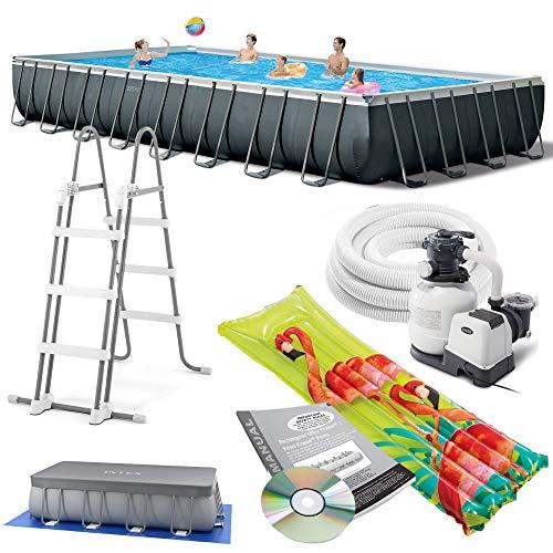 Intex 975x488x132 cm Ultra Frame Swimming Pool 26374 Komplett-Set mit Extra-Zubehör