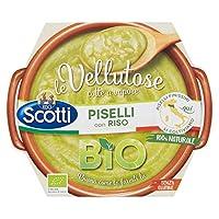 riso scotti - vellutosa piselli - zuppa vellutata di piselli con riso, senza glutine, biologica - 270 gr