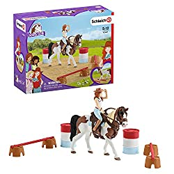 Authentic High Quality Role Play Horse playset Detailed And Lovingly Hand Painted Horse Figurine Highly collectible toy for children and perfect for a Birthday gift, Party gift and Christmas gift. Add to the playset with Schleich Horse Club Figurines...