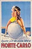 Poster 61 x 91 cm: Monte Carlo (französisch) von Travel