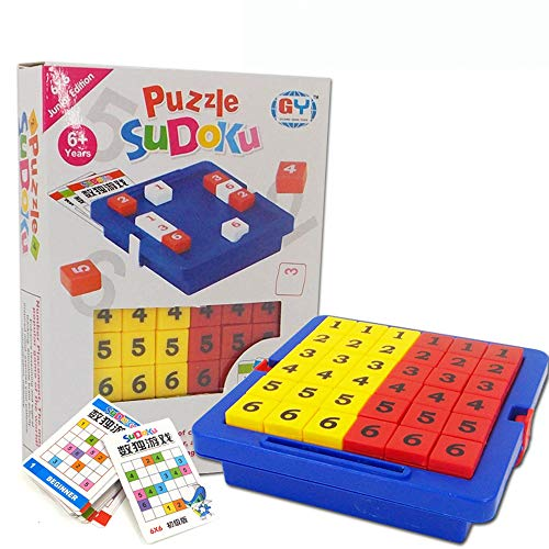MAICOLA Sudoku Número Cubo Juego Sudoku Puzzles de Matemáticas Juguetes Rompecabezas Mesa de Juego de Aprendizaje Juguetes educativos para los niños Palabra de Juegos para Adultos