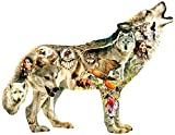 Native American Wolf 750 pc Shaped Jigsaw Puzzle by SunsOut