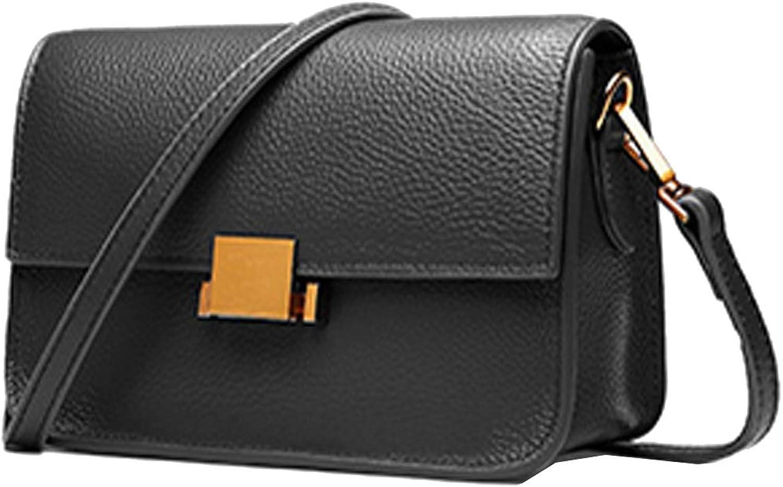 HESHE Women's Leather Small Shoulder Bags Ladies Designer Purse Cross Body Bag Fashion Flap Handbags Satchel