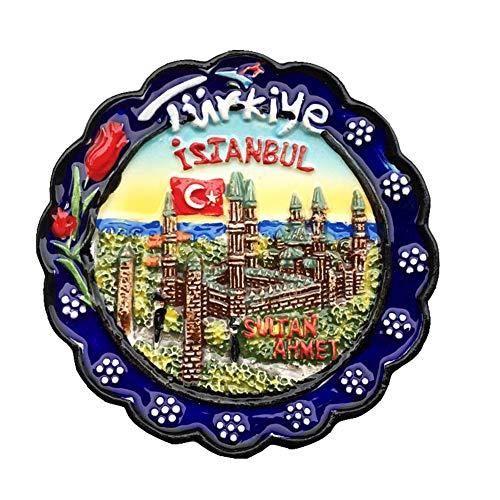 Weekino Sultan Ahmet Camii Estambul Turquía Imán de Nevera 3D Resina de la Ciudad de Viaje Recuerdo Colección de Regalo Fuerte Etiqueta Engomada refrigerador