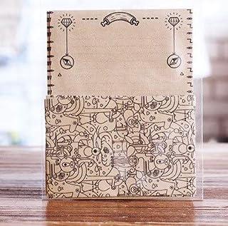 مظاريف ورقية - 12 قطعة / مجموعة 4 مغلفات + 8 أوراق كتابة المتاهة نوع أظرف تحمل حروف ورقة ورقة مجموعة هدية قرطاسية