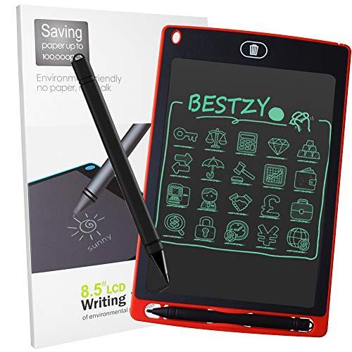 BESTZY Tableta de Escritura LCD 8,5 Pulgadas Tablero de Dibujo Gráfica Writing Board Tableta Adecuado para Familias, Escuelas y Regalos Infantiles(Rojo)