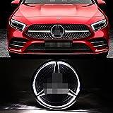 LED Emblem for MERC des Be 2013-2015,Car Front Grille Badge, Drive Brighter Illuminated Logo Hood Star DRL for A B C E R GLK ML GL CLA CLS Class - White Light (White)