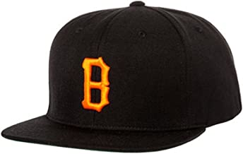 Black Scale Mens The B Logo Snapback Baseball Cap