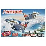 フリーダムモデルキット コンパクトシリーズ ROCAF F-16Aルーク空軍基地第21飛行隊 「ギャンブラーズ」 20周年 & F-16B 814戦闘飛行隊80周年 プラモデル FRE162709