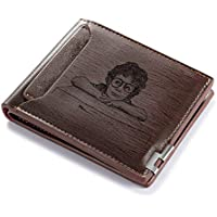 Molywoo Persoanlized Slim Front Pocket Wallet for Men
