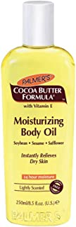 Palmer's Cocoa Butter Formula, Moisturizing Body Oil for Dry Skin Relief, 8.5 fl. Oz.