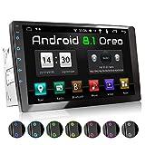 XOMAX XM-2VA1001 Autoradio mit 10 Zoll / 25,4 cm 10 Zoll / 25,4 cm XXL Touchscreen I Android 8.1, 2GB RAM, 16GB ROM, GPS Navigation I Support: WiFi WLAN, 3G 4G, DAB+, OBD2 I Bluetooth, 2X...