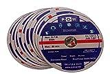 30 discos de corte de acero inoxidable para amoladora angular o de corte – 180 mm de diámetro del eje/INOX/discos flexibles