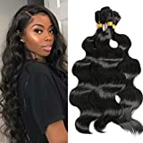 3 Bundles Body Wave Synthetic Hair, 18inch Fashion Long Curly Hair Hairpieces, Pre-stretched Braiding Hair Same Texture As Human Hair Synthetic Hair Bundles Full Head Soft Hair Weft