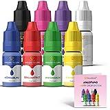 GoodBake Lebensmittelfarbe, 8 Farben Set, hochkonzentriert & zuckerfrei, Happy Drop System - 8 x...