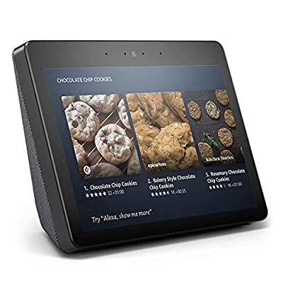 """Certified Refurbished Echo Show (2nd Gen) – Premium sound and a vibrant 10.1"""" HD screen - Charcoal by Amazon"""