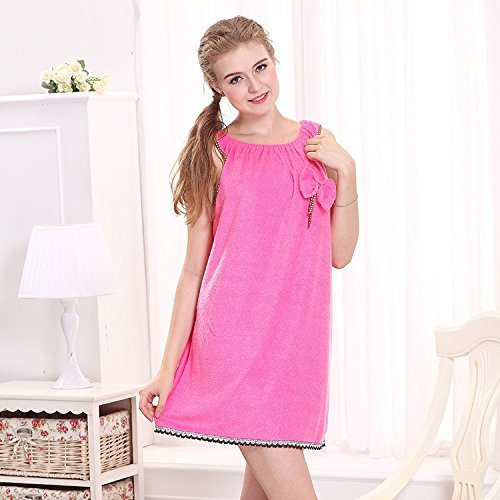 Amazing Deal GGGarden Honana BX-R977 Soft Bathrobe Women Bath Dress Microfiber Cozy Spa Bath Skirt w...