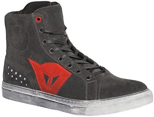 Dainese-STREET BIKER AIR Schuhe, CARBON-Dark/Rot, Größe 41