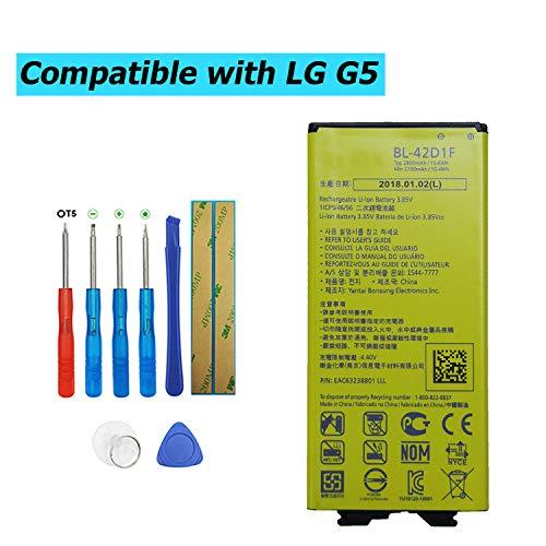 Upplus BL-42D1F - Batería de Repuesto Compatible con LG G5 G5 Lite H820 H830 LS992 VS987 con Kit de Herramientas