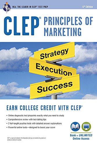 CLEP Principles of Marketing Book + Online (CLEP Test Preparation)