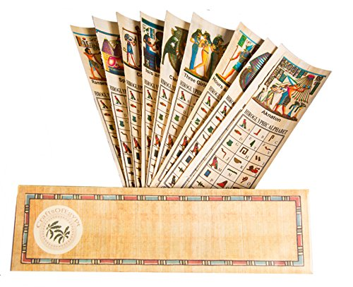 Egyptian Papyrus Paper Set of 10 Bookmarks Book Marks History Educational Set. Photo #4