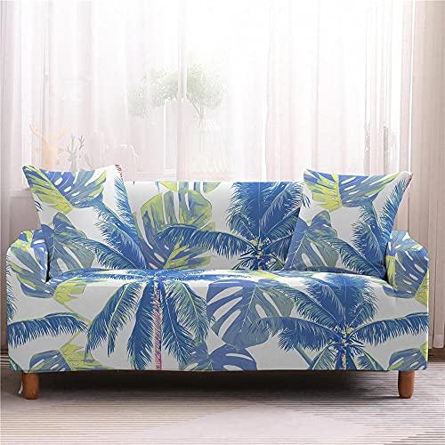 Fundas de Sofá - Funda Cubre Sofá Elasticas de Protector de sofá con Estampado Árbol de Coco 1 Plazas, Suave Poliéster Universal Funda Cubre Sofas Ajustables