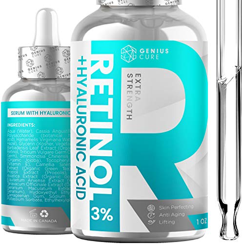 Retinol & Hyaluronic Acid Serum Anti Aging & Anti Wrinkle Serum, Boost Collagen Production and...
