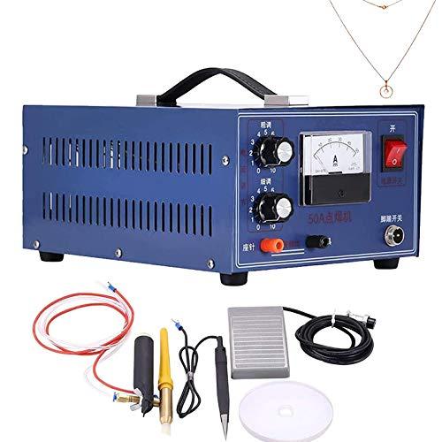 MXBAOHENG Máquina Soldadora de Joyería Joyería Soldadora por Puntos 0.6-1.2 mm Soldador Laser Joyeria DX-50A 300W 220V Soldador de Puntos Joyería para Oro Plata Platino