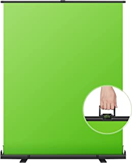 Neewer 152x197cm Green Screen Green Backdrop, Portable Collapsible Chromakey Background, Pull-up Style with Auto-Locking F...