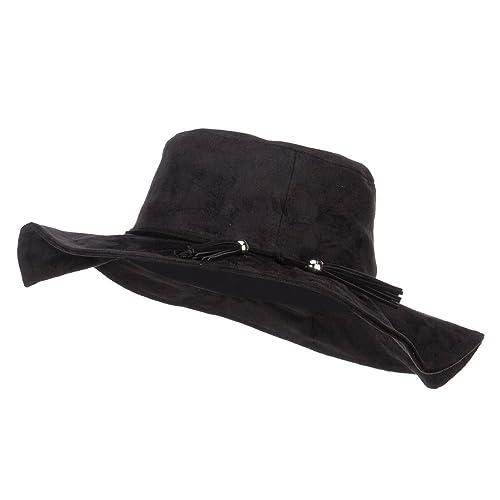 Jeanne Simmons Bolero Style Tassel Hippy Brim Hat e90f1339d39