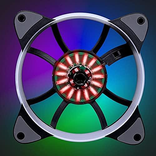 SMEJS Caja de informática Ordenador Personal Refrigerador de Ventilador de refrigeración RGB...