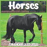 Horses Calendar 2021-2022: April 2021 Through December 2022 Square Photo Book Monthly Planner Horses, small calendar