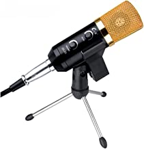 HomJo Portable USB Microphone Plug & Play Metal Shock Mount and Mounting Condenser Microphone with Tripod Smartphone Or PC Singing Anytime