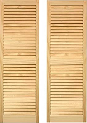 LTL Home Products Exterior Window Louvered Shutters
