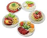ThaiHonest Mixed 5 Assorted Spaghetti and Steak Dollhouse Miniature Food,Tiny Food