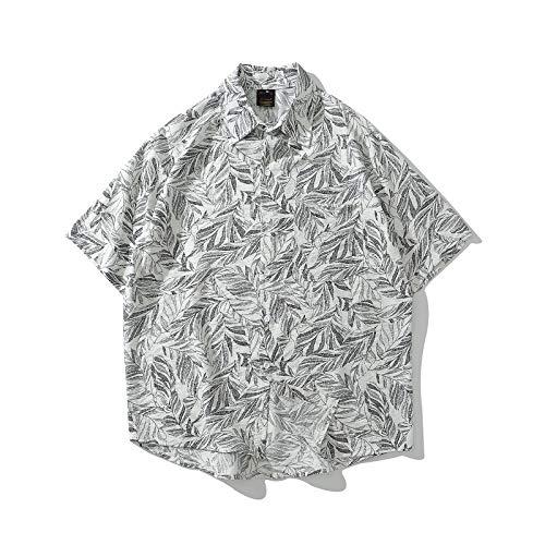 Camisa para Hombre, Estilo de Vacaciones Hawaiano, patrón de Planta, Camisa de Flores de Manga Corta, Camisa...